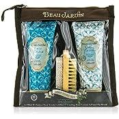 Heathcote & Ivory Beau Jardin Spearmint Foot Care Set: Pumice Foot Scrub 100ml/3.38oz + Foot Lotion 100ml/3.38oz...