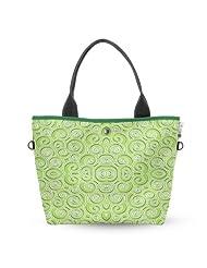 Atrangee Twirly Wide Tote Bag (Green)