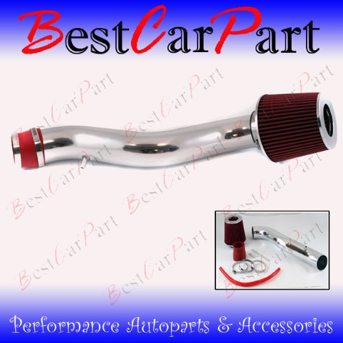 88 89 90 91 Honda Civic CRX Si Ex Short Ram Intake Red (Included Air Filter) #Sr-hd001r