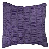 AANANTAA Rouched Two Tone Designer Cushion Covers (Purple/Green)