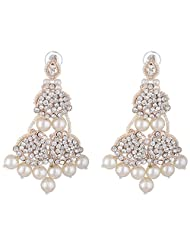 Bel-en-teno White Alloy Earring Set For Women - B00PY9XUM2