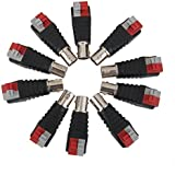 Generic 10x BNC Female Connector Cable Adapter Plug Jack Press Type For CCTV Camera