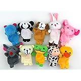 RayLineDo® Small Size Zoo Animals Set Sock Glove Soft Cute Hand Finger Puppets Sack Plush Toy Kids Entertainment