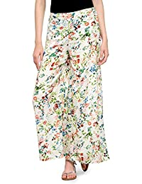 Floral Print Relaxed Fit Palazzo Trousers