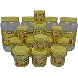 Sunpet Transperant PET Jar Set No. FR110600-16 - Set Of 16
