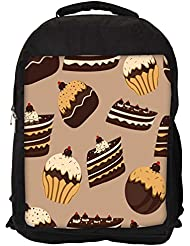 """Snoogg Abstract Cakes Pattern Casual Laptop Backpak Fits All 15 - 15.6"""" Inch Laptops"""