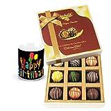 Chocholik Luxury Chocolates - Luscious Collection Of Truffles With Birthday Mug