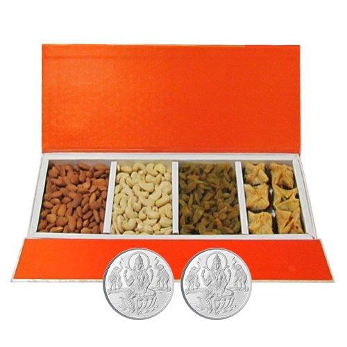 Chocholik Belgium Chocolates - Delightful Collection Of Almonds,cashew, Raisin And Baklava Gift Box With 5gm X...