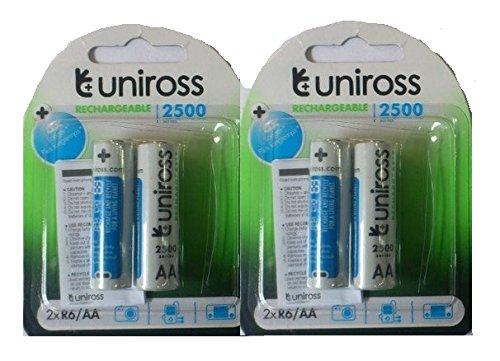 Uniross Ni-MH AA Rechargeable Battery 2100 Mah Set Of 2 Combo Pack