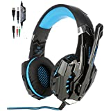Lepfun G9000 3.5mm Stereo Gaming Headset With Microphone Led Light For Ps4,Laptop And Mobilephones