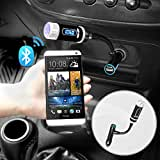IKross Multifunction LED Car FM Radio Stereo Transmitter With Bluetooth Handsfree Calling And Charging Port For...