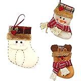 Generic Senta Claus : Christmas Stocking Small Santa Claus Sock Gift Bag Kids Christmas Decoration Candy Bag Christmas...