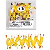 Archie Mc Phee Itty Bitty Rubber Chickens (Pack Of 12)