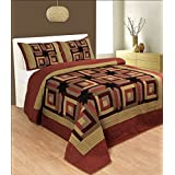 R & R Home Fashions Bulls Eye Cotton Double Quilt With 2 Pillow Covers