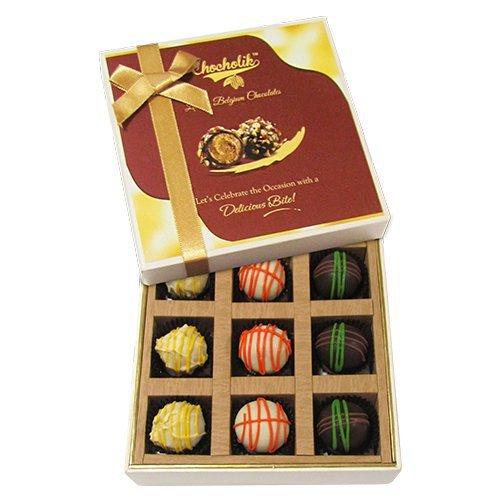 Chocholik Belgium Chocolates - 9pc Scrumptious White Collection Of Chocolates