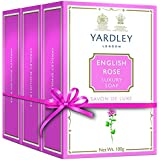 Yardley English Rose Bathing Soap, 100gm (Pack Of 3)