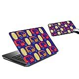 MeSleep Auto Rikshaw Laptop Skin And Mouse Pad