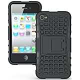 G-STAR Shockproof Armour With Kickstand Case For Iphone 4 4G/4S - Black