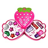 Fashion Strawberry Case Pretend Play Toy Make Up Case Kit, Washable, Formulated For Children