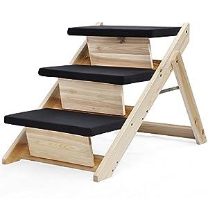 Amazon.com : Yaheetech Folding Pet Ramp & Stairs for Dog