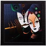ECraftIndia  Radha Krishna Matt Textured Framed  UV Art Painting (Synthetic Wood, 27.9 Cm X 1.3 Cm X 27.9 Cm)