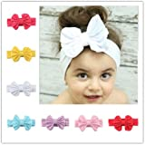 Style C : AUCH 7Pcs Assorted Color Elastic Bowknot Headbands Hairband Hair Accessories Set For 0-6 Yrs' Old Age...