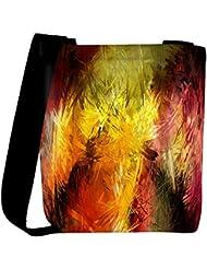 Snoogg Abstract Colorful Design Designer Womens Carry Around Cross Body Tote Handbag Sling Bags - B01I1IQMHC