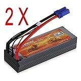 2 Packs Floureon 7.4 V 5200m Ah 30 C Rc Lipo/Li Polymer Battery Packs Rc Battery With Ec5 Discharge Connector...