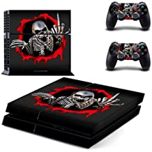 Elton Skeleton Protector Skin Decal Sticker For PS4 PlayStation 4 Game Controller