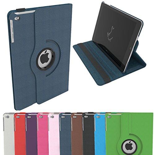 Étui pour iPad Air, Étui Housse Intelligent Rotatif RC 360 Couverture en Cuir PU pour Apple iPad Air avec Sommeil / Éveil (iPad Air, Marine)