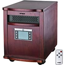 Optimus H-8010 Infrared Quartz Heater with Remote Control
