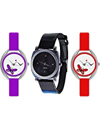 Rage Enterprise Combo Of 3 Analogue Watch-for Women And Girls