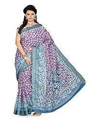 De Marca Purple Silk Designer SS806 Saree