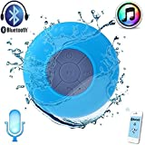 AE (TM) Portable Bluetooth Speaker With Suction Subwoofer Shower Waterproof Wireless Handsfree - BLUE