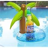 Generic Mini Coconut Tree Drink Holder Inflatable Floats Swim Pool Beach Party Kids Adult Swim Beverage Holders