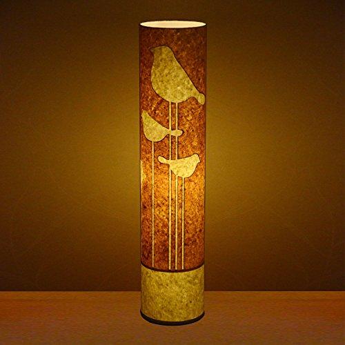 Craftter Abstract Bird Textured Yellow Floor Lamp