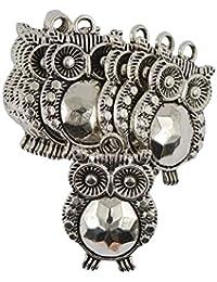 MagiDeal Bulk Large Tibetan Silver Owl Bird Charms Pendants For DIY Jewelry Pack Of 10Pcs