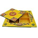 Kanishka Enterprises Wooden & Paper Mache Dry Fruit Box With Kundan Work - B01ER11XSU