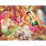 "Dolls Of India ""Discussion"" Reprint On Paper - Unframed (29.21 X 23.50 Centimeters)"
