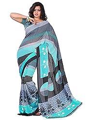 Bano Tradelink Women's Georgette Saree (Btl_Tr-T, Multicolour )