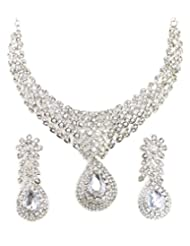 SPARKLING AUSTRIAN DIAMOND JEWEL SET BY ZAVERI PEARLS-ZPFK1217