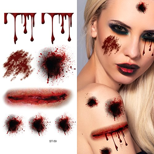 Supperb-Temporary-Tattoos-Bleeding-Wound-Scar-Halloween-Halloween-Tattoos