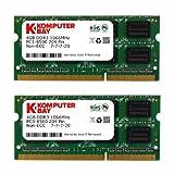 Galleria fotografica Komputerbay 8GB (2x 4GB) DDR3 SODIMM (204 pin) 1066Mhz PC3 8500 8GB