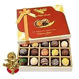 Chocholik Belgium Chocolates - Sweet Treat Of 20pc Truffle Box With Ganesha Idol - Diwali Gifts