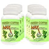 Green Coffee Max Extract 65% Chlorogenic Acid (GCA) 800mg Veg 90 Capsules Weight Loss (Ultimate Pack Of 6)