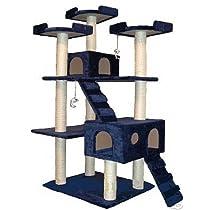 Go Pet Club Cat Tree 50W x 26L x 72H Blue