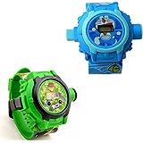 Shanti Enterprises Combo Ben 10 And Doraemon 24 Images Projector Watch