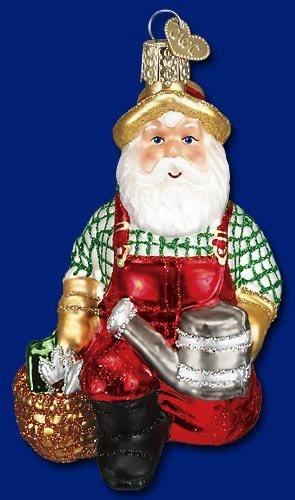 Gardener Santa Christmas Ornament