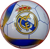 Authentic OFFICIAL Licensed FC Real Madrid Play Playground Childrens Outdoor Rubber 23cm Ball - Excellent for your backyard or park & Licensed Merchandise