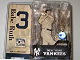 McFarlane MLB Cooperstown Series 2 Babe Ruth #3 in New York Yankees Sepia (Newspaper Print) Chase Variant Six Inch